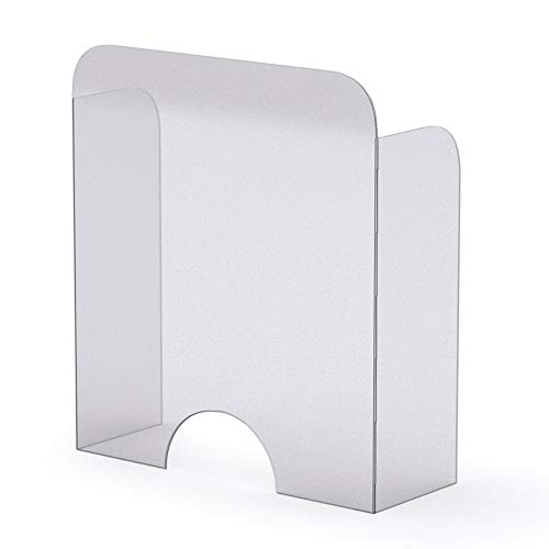 Mampara Protector Mostrador Metacrilato Redondeada, Flexible, Adaptable Y Portatil, 115,3x75,5 cm