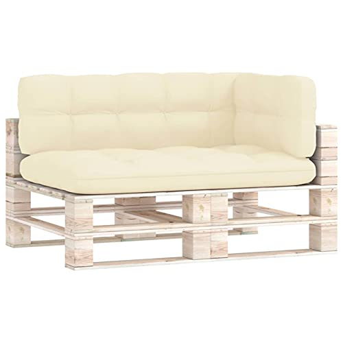 Tidyard Cojines para sofá de palets 3 Piezas Cojín para Banco de Jardín Cojín de Asiento para Banco Cojín para Banco ExteriorColor Crema