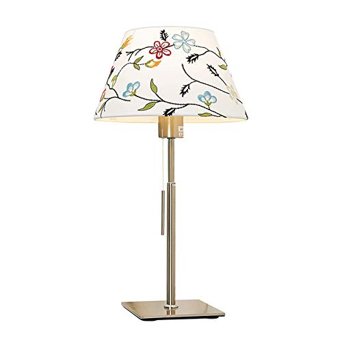 Lámpara de Cabecera Lámpara de mesa de metal cromado cuerpo de la lámpara con el modelo colorido decorativo pantalla de la tela for sala de estar Mesita de luz lámparas de escritorio for el dormitorio