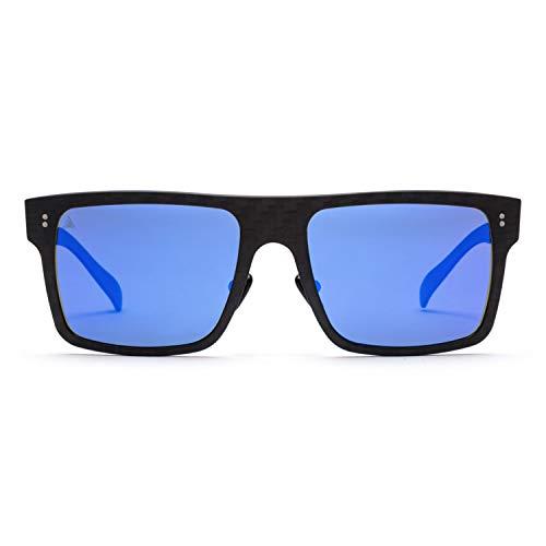 Gafas de sol polarizadas  100% Fibra de Carbono  UV400  Unisex Adulto  Modelo Square  Gafas de Sol Deportivas  Máxima Resistencia y Ligereza  Diseño Clásico Atemporal
