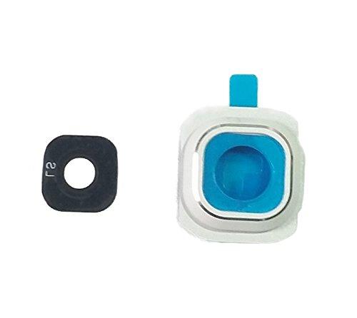 Cámara Lente marco Camera Cristal Lens fotográfico Samsung Galaxy S6Blanco
