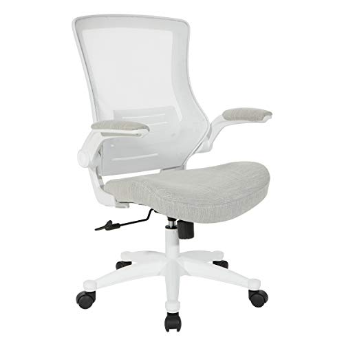 Office Star White Screen Back Manager's Chair, Linen Stone