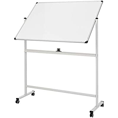 AmazonBasics Mobile Dry Erase White Board, metal castors, 36 x 48 Inch