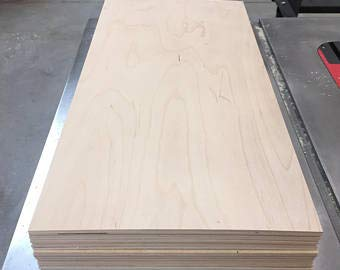 """1/4"""" (6MM) 24"""" x 48"""" Baltic Birch Plywood b/bb Grade one Clear face. (Box of 4)"""