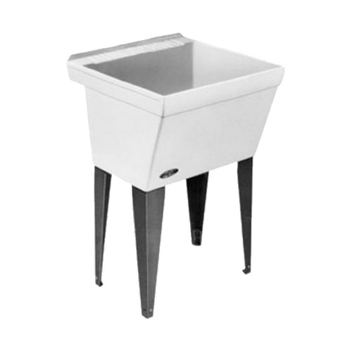 Mustee 17F Utilatub Laundry Tub Floor Mount,...