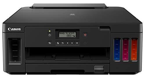 Canon PIXMA G5050 MegaTank nachfüllbarer Tintenstrahldrucker DIN A4 (4.800 x 1.200 dpi, WLAN, LAN, USB, Apple AirPrint, Duplexdruck, hohe Reichweiten, niedrige Seitenkosten), schwarz