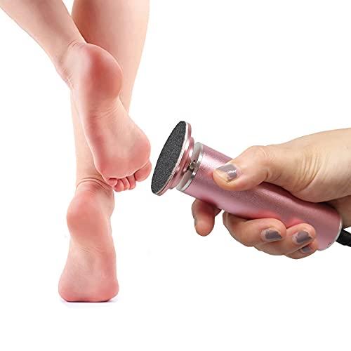 Piedi Roll Elettrico, Velocità Regolabile, Lima per Piedi Elettrica Professionale Piedi Attrezzi per Pedicure con Cuscinetti di Ricambio (Rosa)