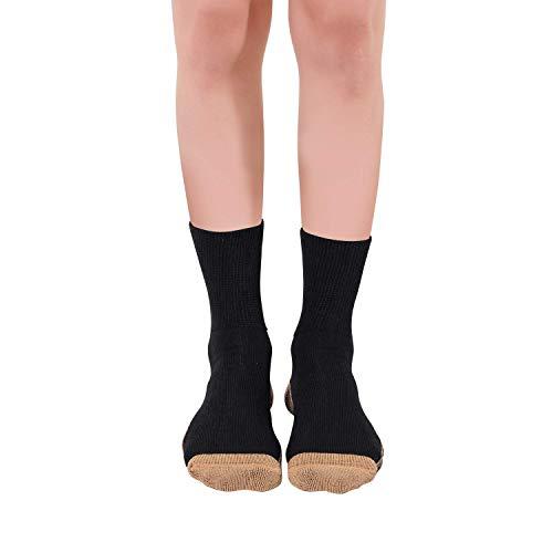 3 x Glucology® Diabetiker-Socken für Herren und Damen, 39-41, antibakterielle Crew-Socken, Diabetiker-Socken, super dehnbar, bequem für Männer und Frauen, klassische Edition