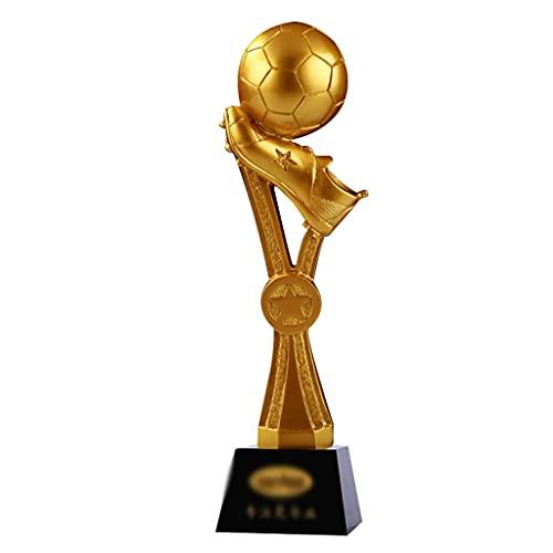 Football Pioneer Trophy New Bright Gold Games Competición Trofeo Trofeo De Resina Personalizado Empresa Escuela Empresa Trofeos De Plastico (Color : Gold, Size : 8 * 8 * 29cm)