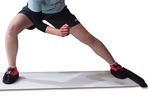 スライドボード <220cm> 白 筋トレ 体幹 トレーニング 下半身強化 フィットネス ジム スライディングボード シューズカバー付き 【Fungoal】