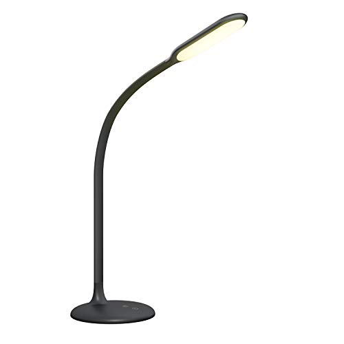 LED Schreibtischlampe, Gladle Akku Tischlampe für Kinder Kabellos, Einstellbare Dimmen & Farbtemperaturen, 30min Timer, Memory Funktion, Verstellbarer Schwanenhals für Büro Schlafzimmer, USB Aufladbar
