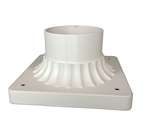 Trans Globe Lighting TG100 WH Transitional Base Mount Outdoor-Post-Lights, 3-1/4-Inch, White