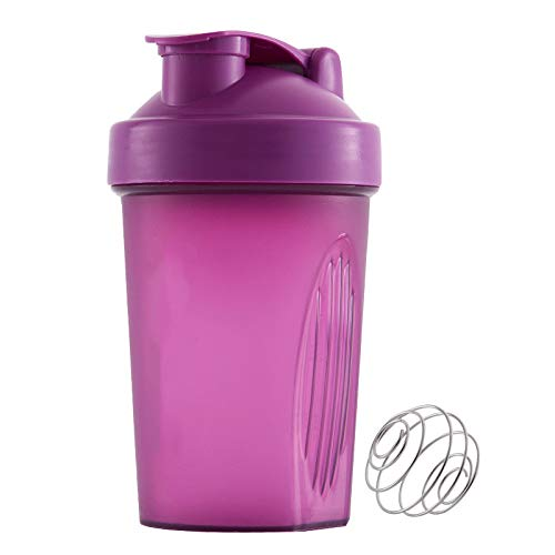 Classic Loop Top Shaker Bottle,Protein Powders Mixing Cup with Mixer Ball,Leakproof Shake Bottle with Stirring Ball-400ML/16 OZ