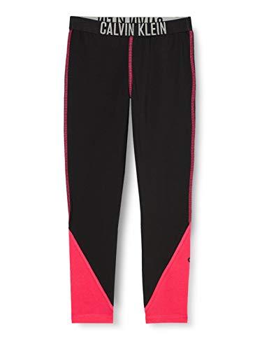Calvin Klein Legging Pantalón de Pijama, Black, 14-16 para Niñas