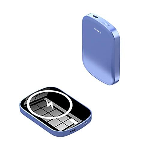 Edinber Cargador inalámbrico magnético Power Bank Mini Cargador rápido portátil magnético 5000mah / 10000mah Fuente de alimentación de Respaldo Compatible para iPhone 12PD