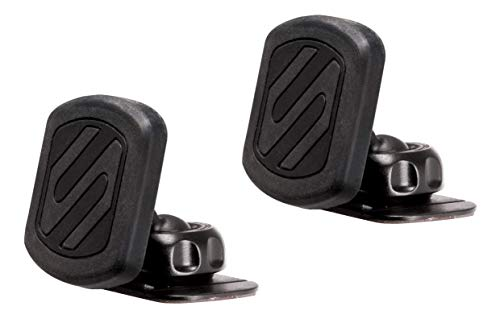 SCOSCHE MAGKIT MagicMount Universal Magnetic Mount Holder for Mobile Devices, Black (Pack of 2)