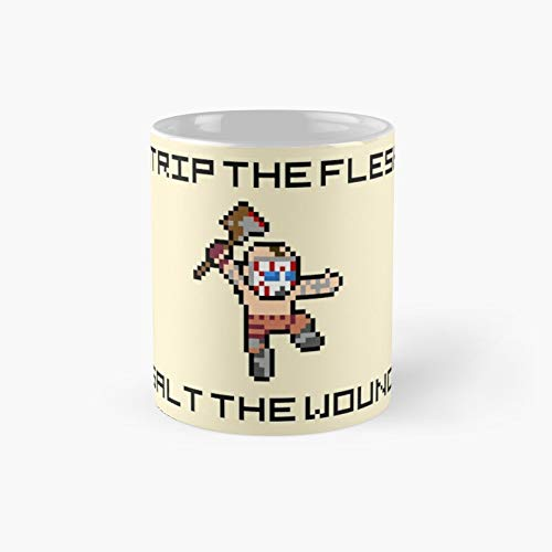 Borderlands Psycho Strip The Flesh Salt Wound 8-bit Pixel Art Classic Mug Best Gift Funny Coffee Mugs 11 Oz