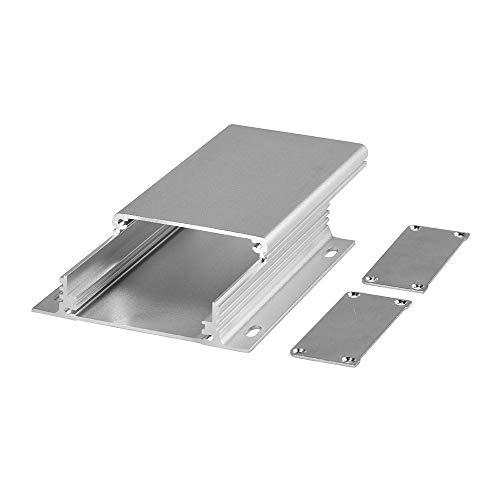 """EightwoodアルミニウムDIY電子ボックスエンクロージャケース-4.33"""" × 6.2"""" X 0.98""""(長さ*幅*高さ)、スムーズトップストライプwith fixingポイントフランジボックス"""