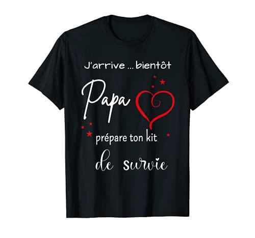 Homme Kit de survie futur papa T-Shirt