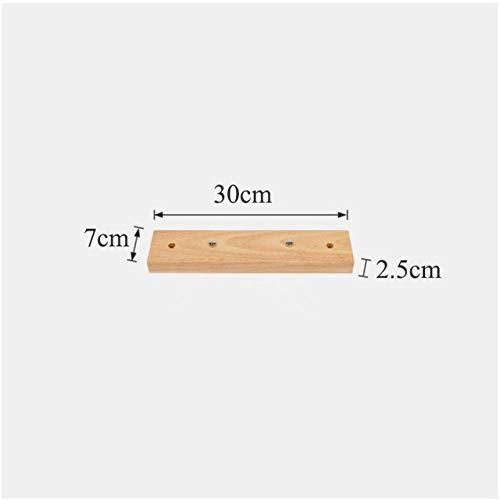 MHGSW Beleuchtung Zubehör, DIY Holz Deckenleuchte Basis, Multi Size Baldachin Platte Kronleuchter Leuchten rund rechteckig, 31cm