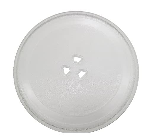 PUGONGYING Popular 24.5 cm Diámetro Tipo Microondas Horno de microondas Piezas de microondas Horno de Vidrio Bandeja de Placa de Vidrio Accesorios de Placa de Vidrio Durable
