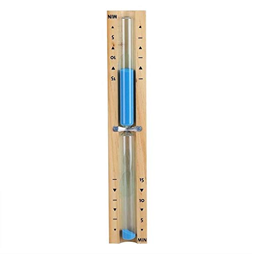 FUNRE 15 Minuten Timer Sauna Sanduhr Wand Rotating Sand-Timer Countdown-Uhr (Color : Blue)