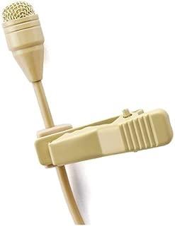 Pro Beige Lavalier Lapel Condenser Microphone JK MIC-J 050 Compatible with Sennheiser Wireless Transmitter
