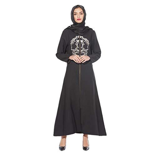WUDUBE Art und Weisefrauen moslemische Robe, islamisches Kostüm elegantes Kleid lose moslemisches Kleid