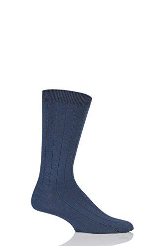 Herren 1 Paar Braintree Hanf Held Plain Hanf & Bio-Baumwolle Socken Navy One Size