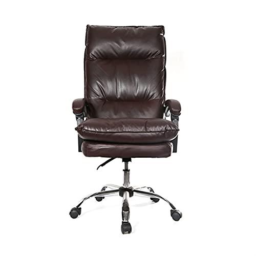 Silla ejecutiva de oficina Silla de silla de juego de computadora ergonómica para Cafe Casilla para el hogar (Color : Brown no footrest)