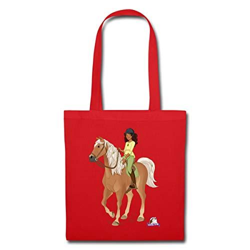 Schleich Horse Club Sarah posiert auf Mystery Stoffbeutel, Rot
