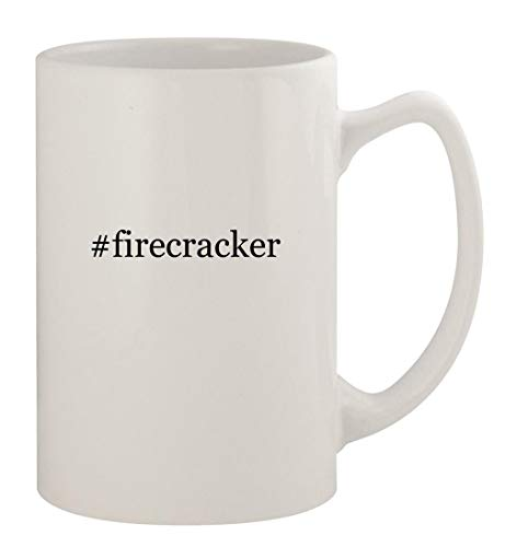 #firecracker - 14oz Ceramic White Statesman Coffee Mug, White