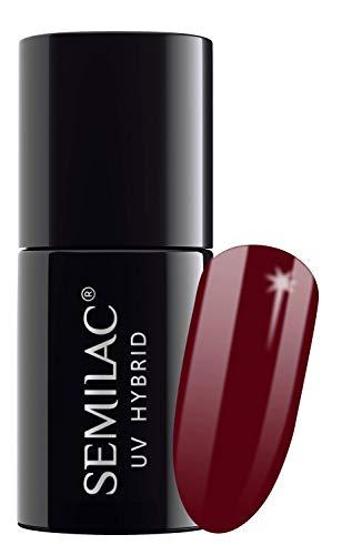 Semilac UV-Hybrid-Nagellack, Nummer 071, Rot (Deep Red), 7 ml