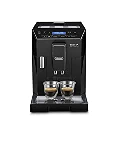De'Longhi Eletta, Fully Automatic Bean to Cup Coffee Machine, Cappuccino and Espresso Maker, ECAM 44.660.B, Black