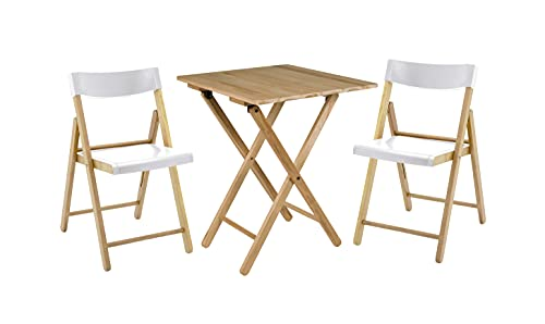 Tramontina Potenza-Set da 3 Pezzi, Tavolo e 2 sedie, mobili da Giardino, Pieghevole, Colore: Bianco