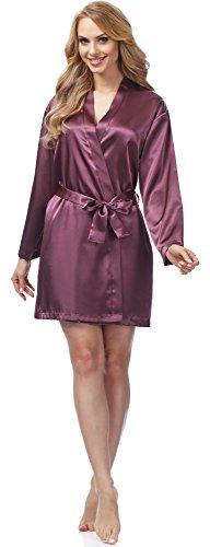 Merry Style Bata Ropa de Casa Lenceria Mujer MSFX797 (Ciruela, XL)