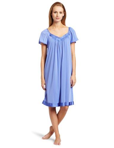 Exquisite Form Women's Coloratura Sleepwear Short Flutter Sleeve Gown 30109, Victory Violet, X-Large