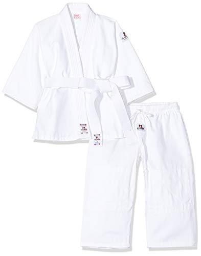 DANRHO Kinder Judogi Yamanashi Karate Kleid, Weiß, 140 cm