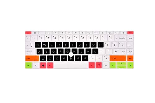 """Keyboard Cover for 14"""" HP EliteBook 840 G7, EliteBook 845 G7 Laptop, EliteBook 840 G7& 845 G7 Laptop Cover - White Black"""