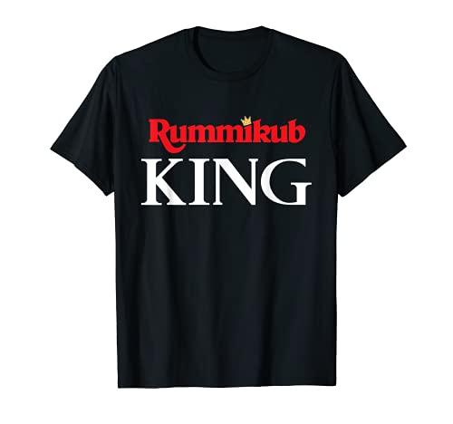 Logo de Rummikub King con tinta blanca noble de la corona Camiseta