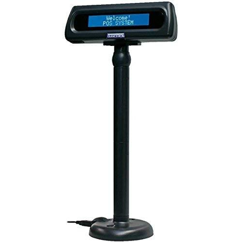 Glancetron 8035, USB, schwarz, Kundendisplay mit leuchtstarkem 2x20 Zeichen LCD Display, USB Anschluss mit COM Emulation,