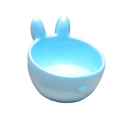 Comedero de cerámica - cuenco del gato de cerámica for proteger la columna cervical se vuelque el plato de comida boca oblicua alimentación plato del perro plato de comida tazón tazón de agua de la ta