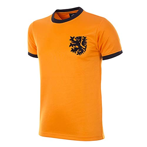 Copa Herren Holland WM 1978 Retro Fußball Shirt Retro Fußball Rundhals T-Shirt XL Orange