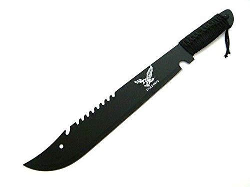 KOSxBO® Bolo Machete Messer mit Sägerücken und Kunststoffscheide o. Nylonscheide Länge 50 cm, Klinge 34,5 cm
