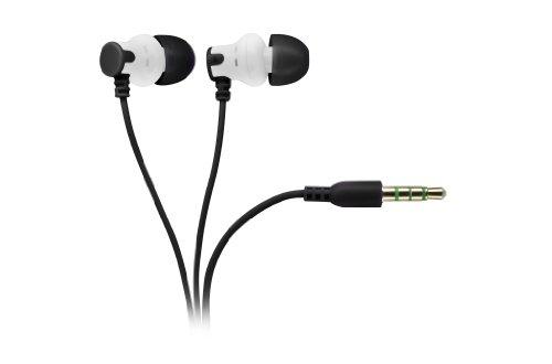 Vivanco MBL 8082 Aircoustic Stereo Kopfhörer für Smartphones (101 dB, 1,2 m Kabellänge) schwarz/weiß