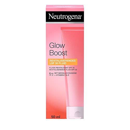 Neutrogena Glow Boost Gesichtspflege, Revitalisierendes LSF 30 Fluid, mit Vitamin C, für jede Haut, 50ml