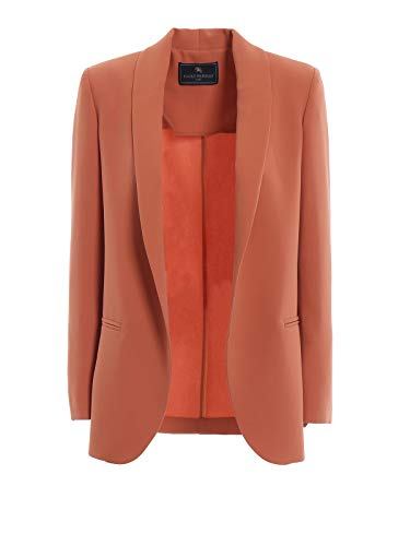 Luxury Fashion | Paolo Fiorillo Dames 1437253110 Oranje Wol Blazers | Seizoen Outlet