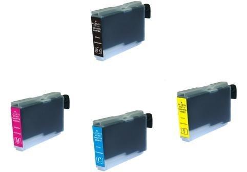 4x Kompatible Drucker Tintenpatronen für Brother MFC-5460CN - Cyan / Gelb / Magenta / Schwarz