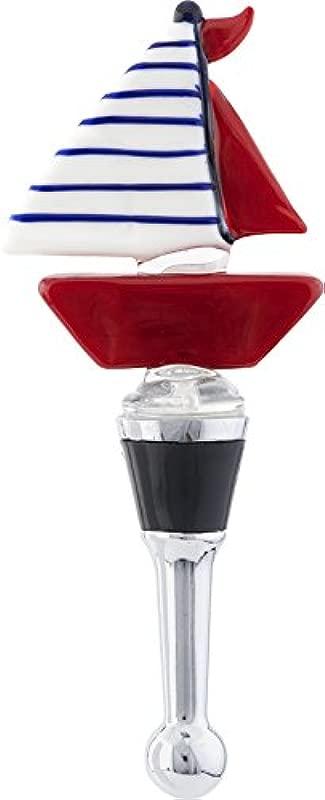 LSArts Wine Bottle Stopper Sailboat