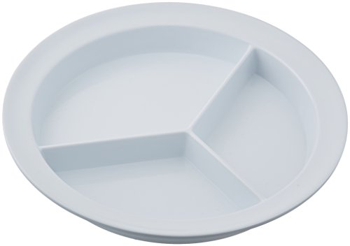 Sammons Preston Partitioned Scoop Dish, Melamine Divided Plate for Kids, Elderly, and Disabled, Divided Sections for Portion Control and Easy Scooping Walls for Limited Mobility, Adaptive Plate, Model:55502
